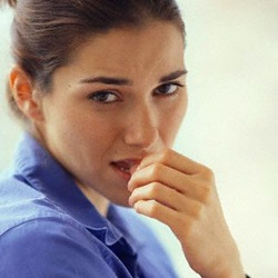 Woman Biting Thumbnail